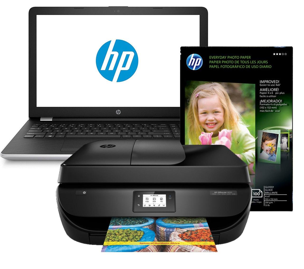 HP 4650 Printer and HP Notebook 1VK25UA Bundle (Refurbished) - $299.85 + Free Shipping