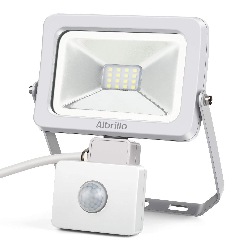 Albrillo 10W Motion Sensor LED Flood Lights daylight 800lm - $8, 30W $13 + Free Shipping w/ Prime