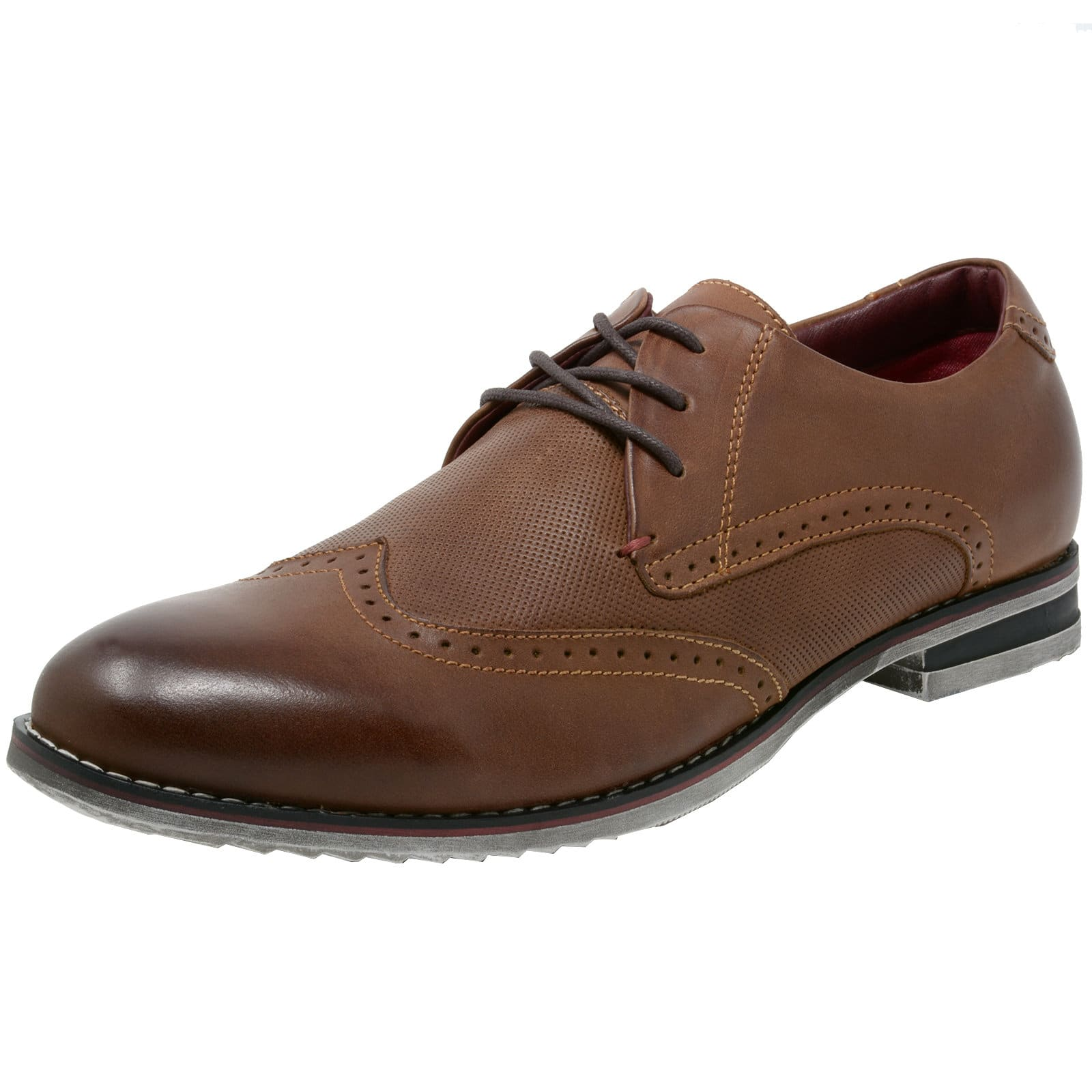 Double Diamond By Alpine Swiss Men's Oxfords Genuine Leather Wingtip Dress Shoes (3 colors) - $19.99 + Free Shipping
