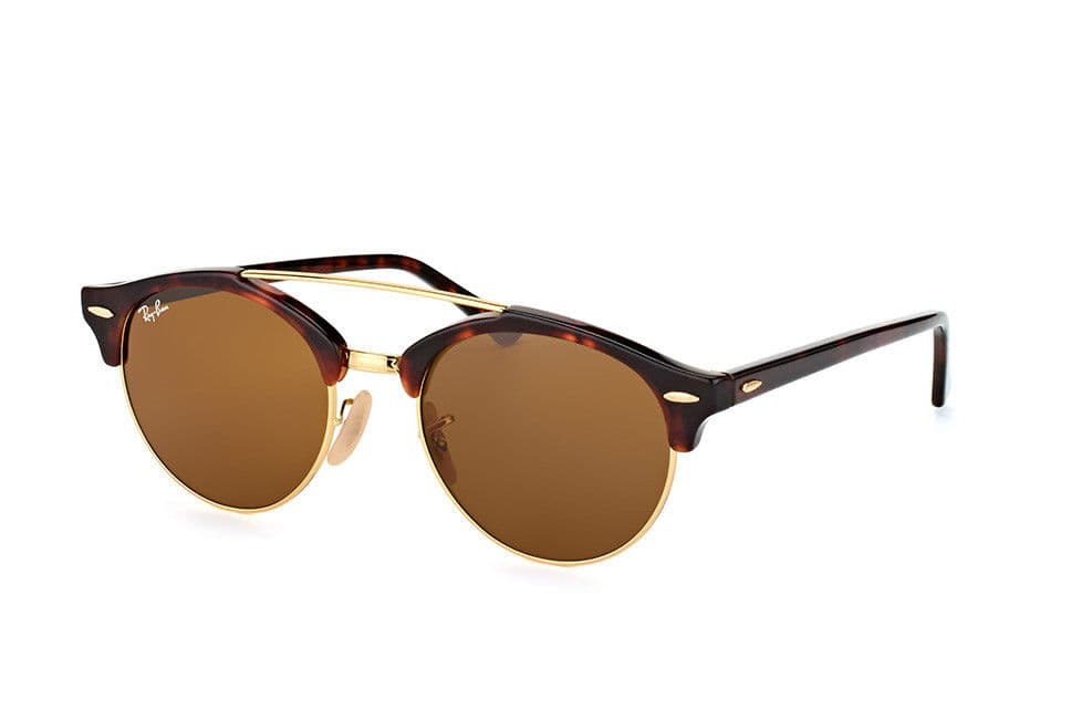 ba0498007f6de Ray Ban RB4346-990 33-51 Round Brown Clubround Double Bridge Tortoise  Sunglasses -  54.99 + Free Shipping
