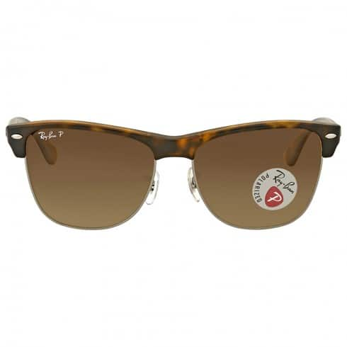 7aae92c36b2f4 Ray-Ban Men s Clubmaster Oversized Polarized Brown Gradient Sunglasses   79.99 + Free Shipping