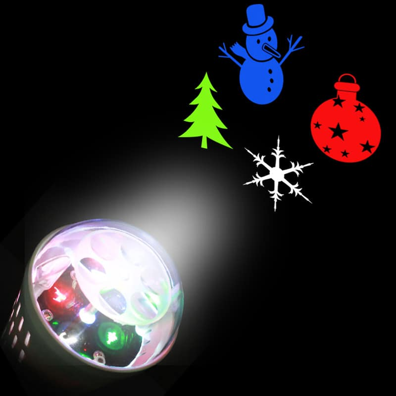 Party Decor Christmas Tree Snowman Baubles Pattern Projector Light Bulb - $4.17
