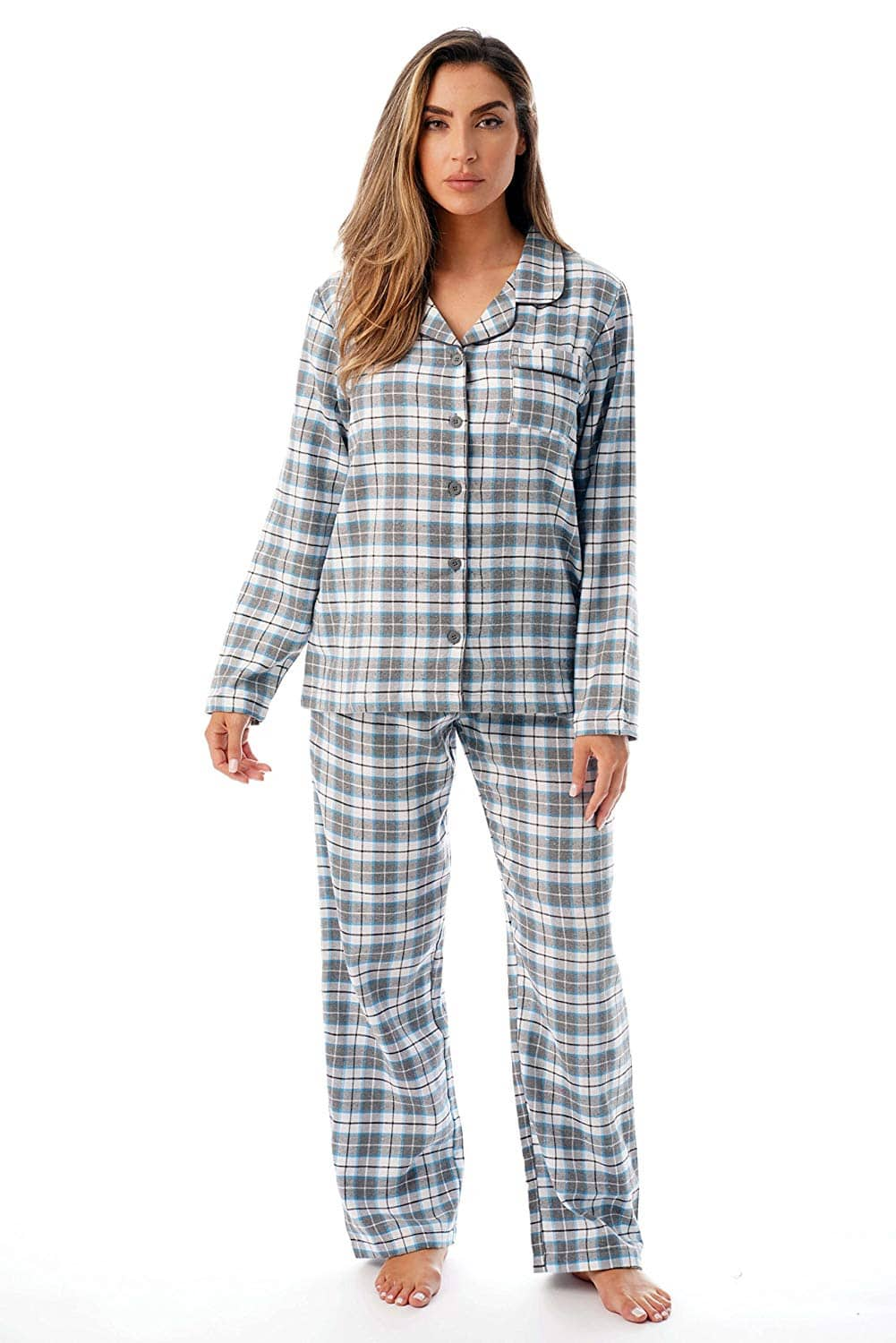 Just Love Long Sleeve Flannel Pajama Sets for Women