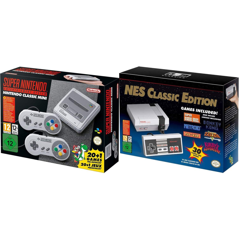Snes And Nes Nintendo Eu Entertainment System Classic Bundle Region Free 119 99