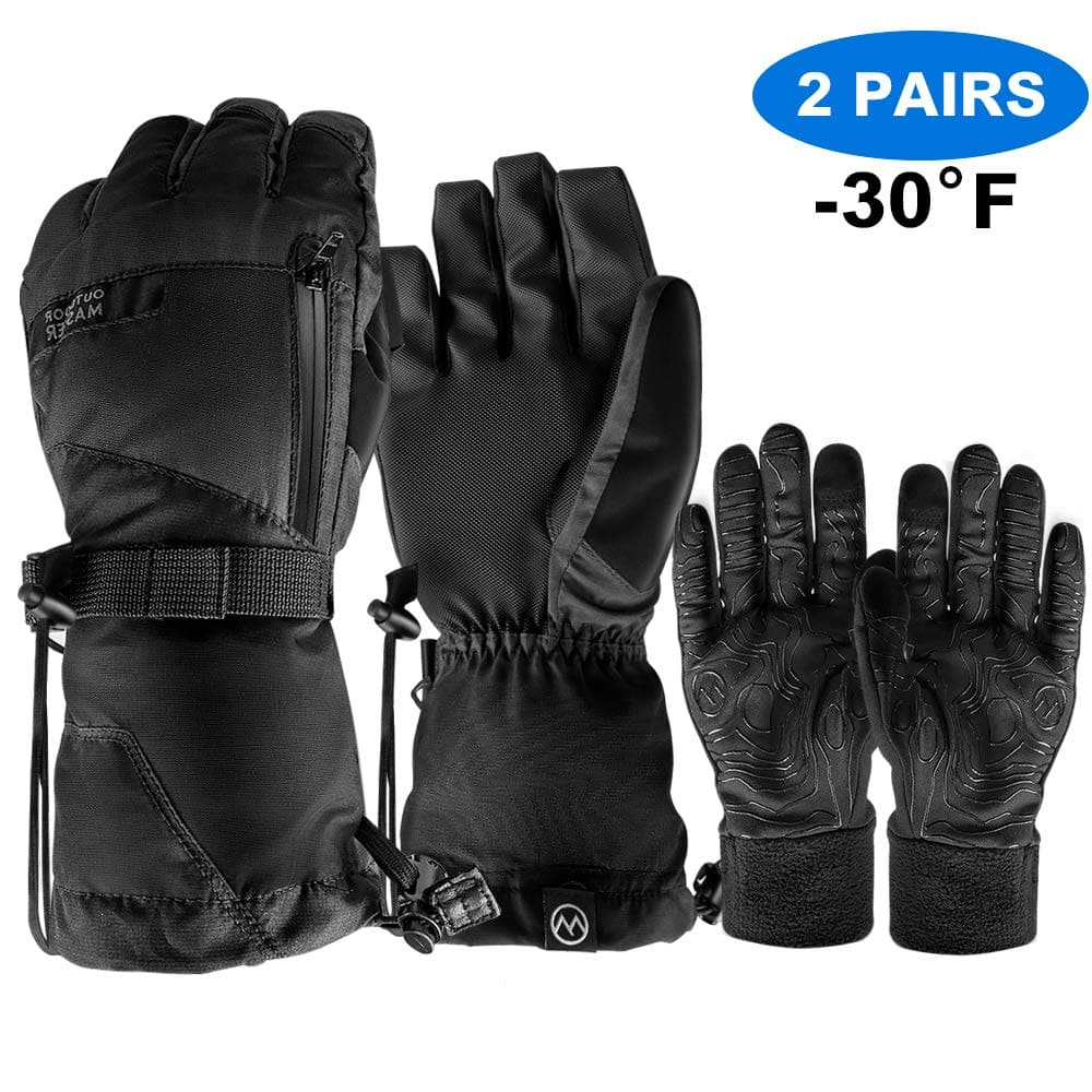 OutdoorMaster 2 Pairs Winter Gloves for - $21.89 & Ski Mask - $9.74 + Free Shipping