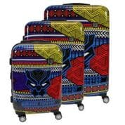 Ful MARVEL BLACK PANTHER TRIBAL ART 3 PIECE LUGGAGE SET, 29, 25, AND 21IN SUITCASES - $200 + Free Shipping