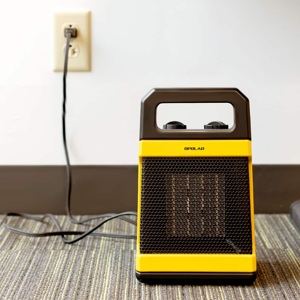 OPOLAR 1500W Ceramic Space Heater with Adjustable Thermostat- $17.99 + Free Shipping