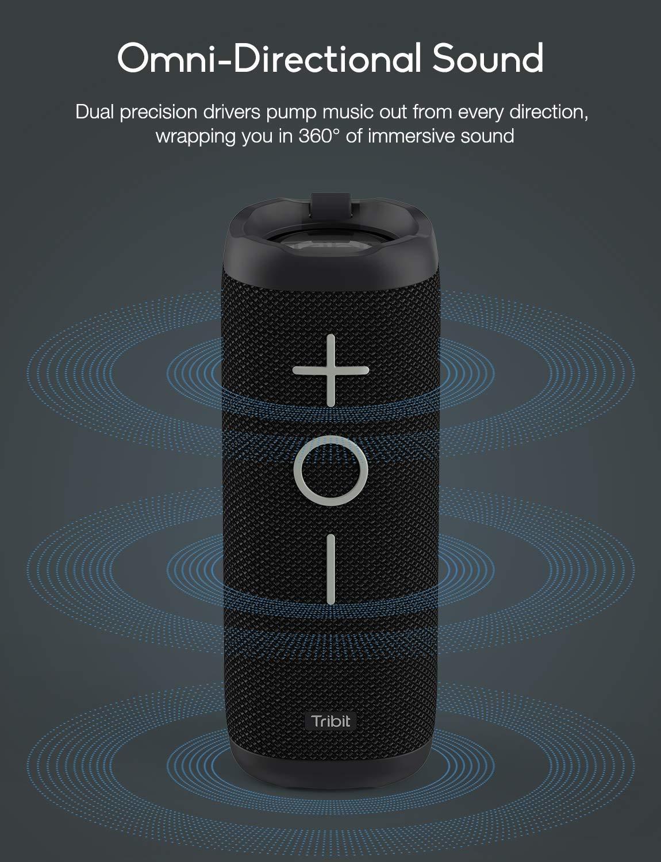 Tribit 24W Bluetooth Speaker - 360° Full Surround Sound