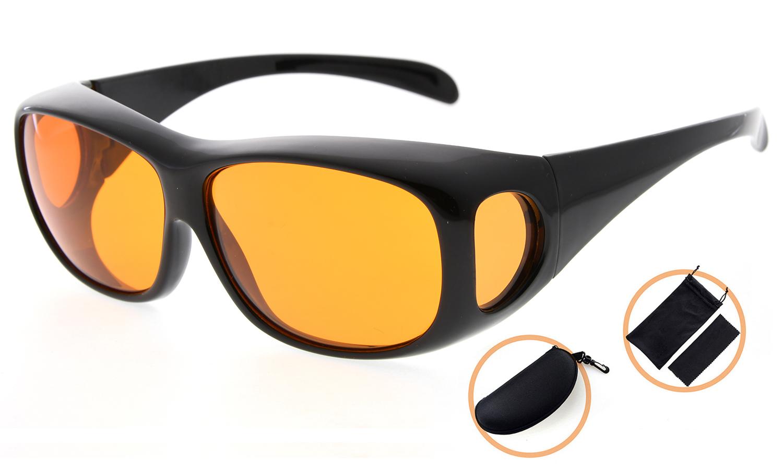 Eyekepper Fitover Computer Glasses Block 100% Blue Light (Black) $13.99 + 4.99 Shipping