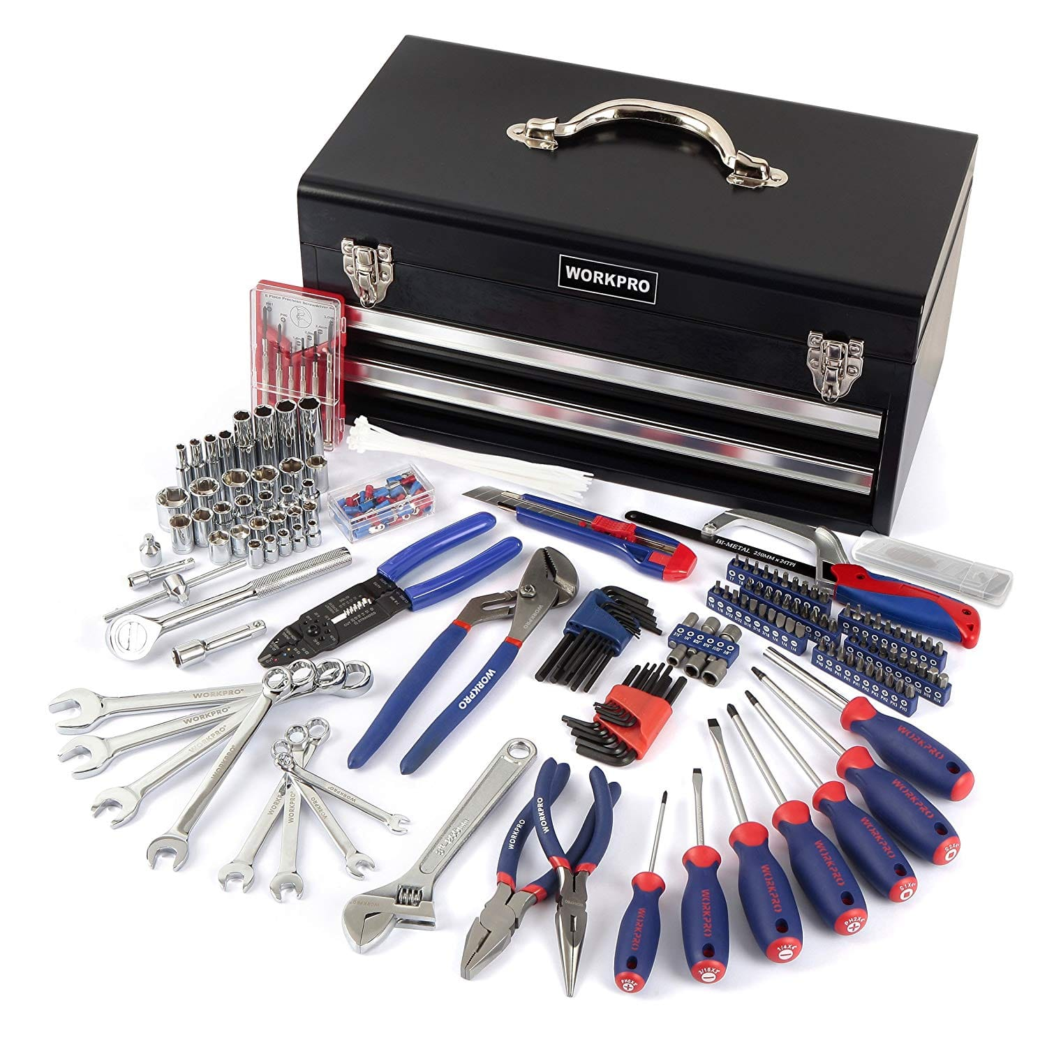 056b686c872 WorkPro 229-Piece Household Tool Set w  Two-Drawer Metal Storage Box  59.99  + Free S H for Prime - Slickdeals.net