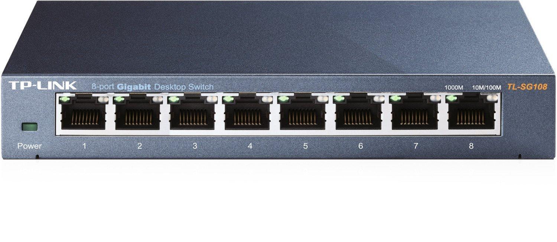 TP-Link 8 port gigabit ethernet switch $19.99 @amazon