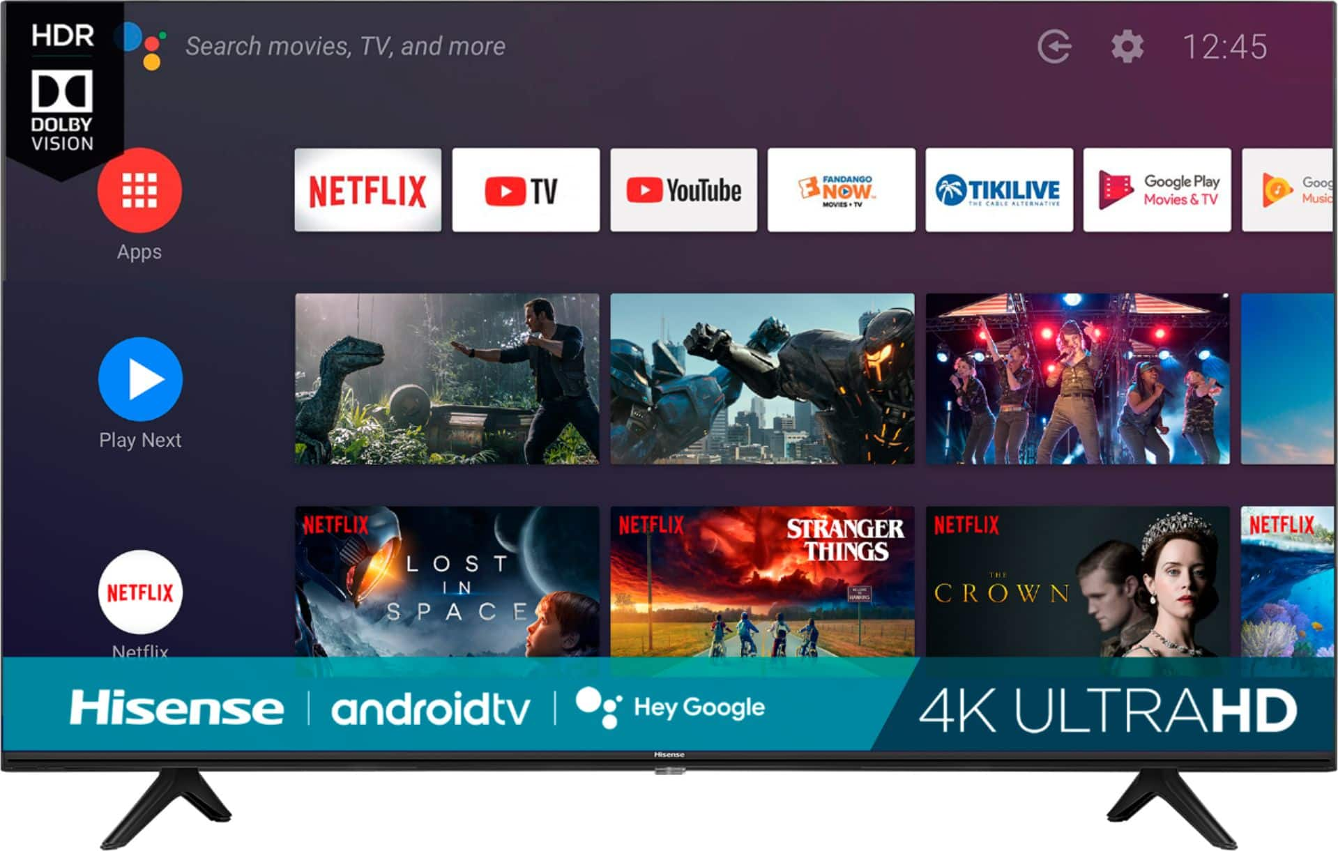 """Hisense - 55"""" Class H6510G Series LED 4K UHD Smart Android TV for $199 at Best Buy"""