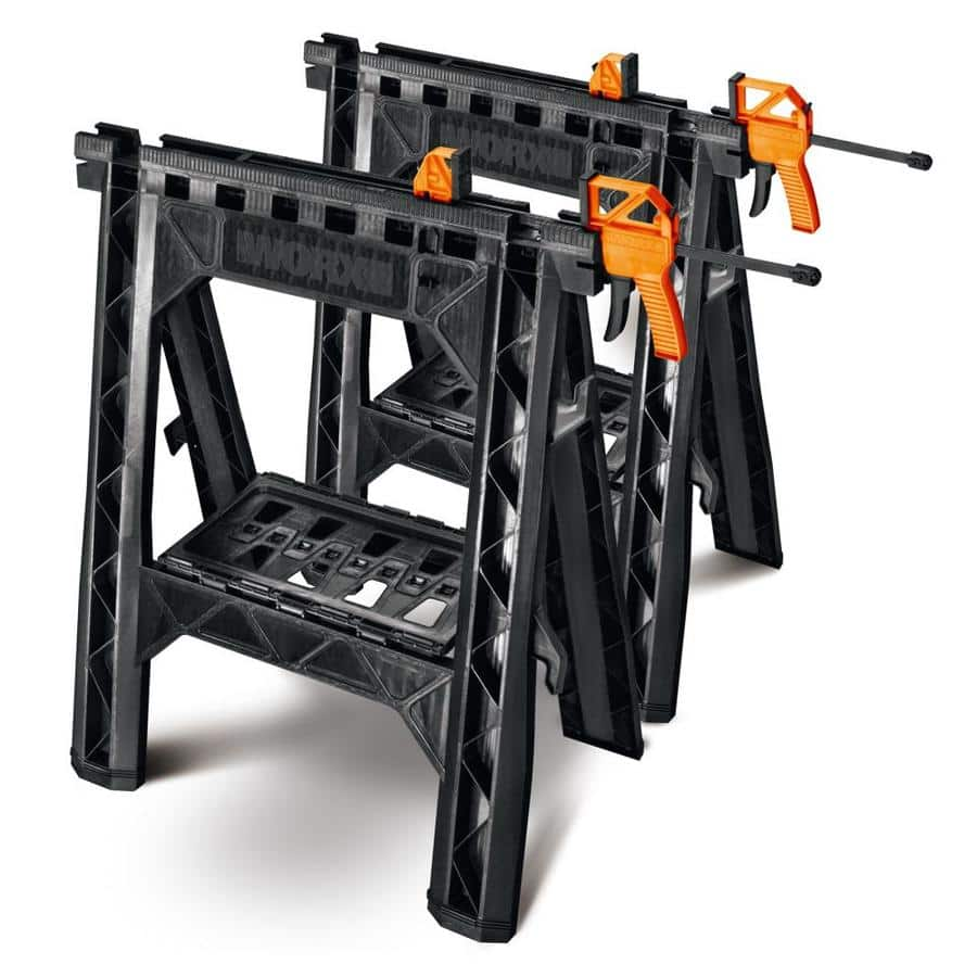 Lowe's - WORX 27-in ABS Plastic Clamping Saw Horses (1,000-lb Weight Capacity) - $39.99