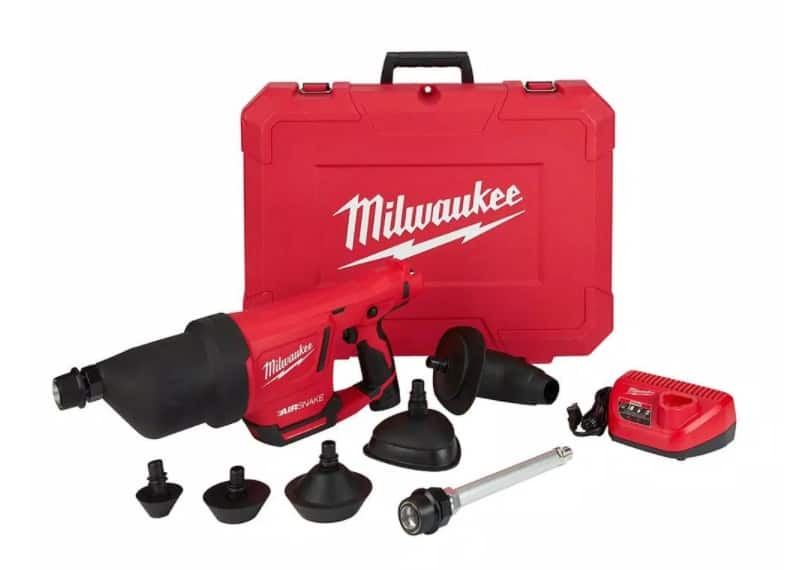 Milwaukee m12 air snake with 2.0 battery and attachments - $308 - Home Depot in store only