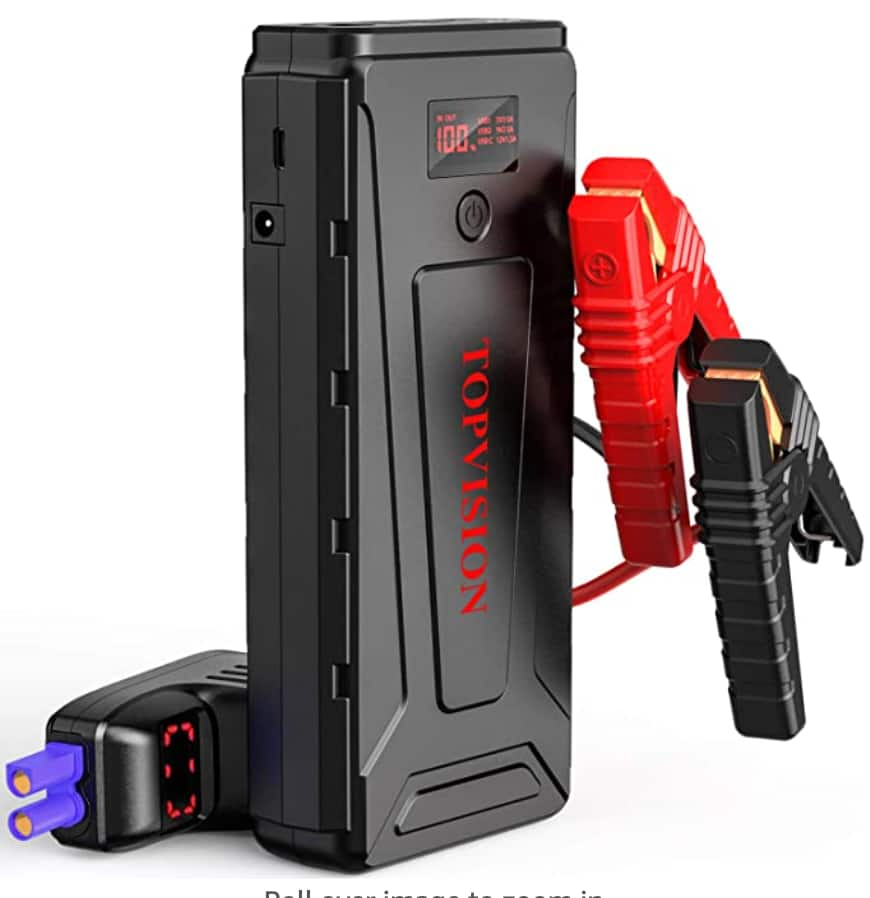 TOPVISION 2200A Peak 21800mAh jump starter - $57.59 after 10% off with promo code TOPVISION at Amazon