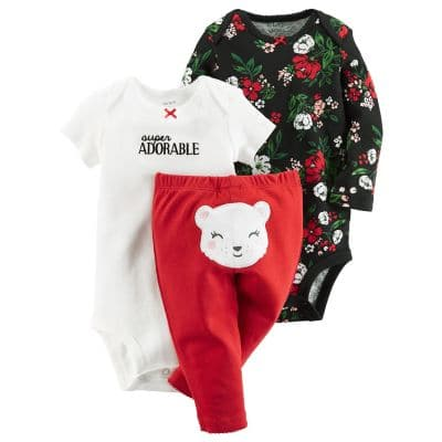 Kohl's Cardholders: Carter's Baby Girl or Boy 3-pc Bodysuit and Pant Set $6.16 with free shipping