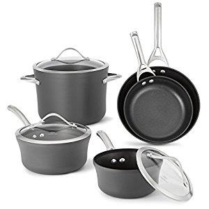 Calphalon Contemporary Hard-Anodized Aluminum Nonstick Cookware, Set, 8-Piece, Black $127.49 + Free Shipping @ Amazon