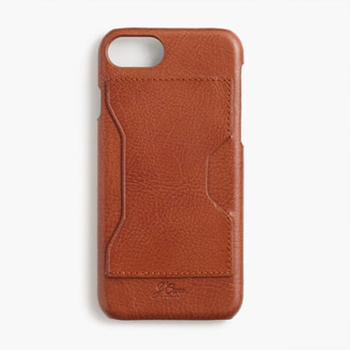 Leather case for iPhone® 6/6s/7 with cardholder with free shipping at J Crew $16.80
