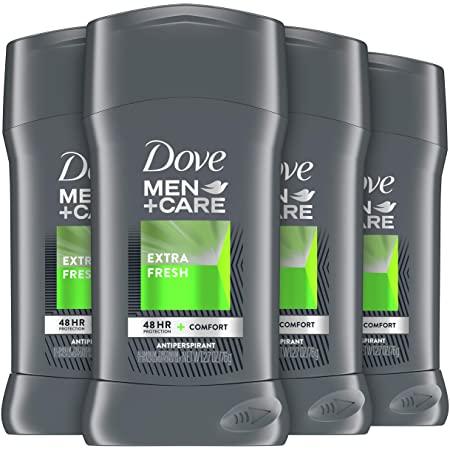 Dove Men+Care Antiperspirant Deodorant 48-Hour Wetness Protection Extra Fresh Non-Irritant Deodorant for Men 2.7 oz, 4 Count - Prime FS - $12.75