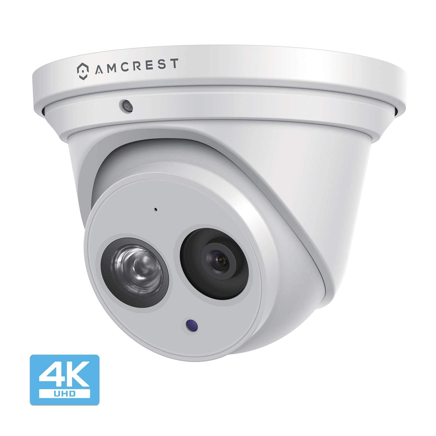 Amcrest  UltraHD 4K (8MP) Outdoor Security IP Turret PoE Camera Ambarella starvis lowlight sensor mic SD/FTP recording $100