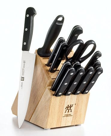 Zwilling J.A. Henckels Knife Block Set, 15 Piece Twin Gourmet - $128 + tax, FS @ Macy's
