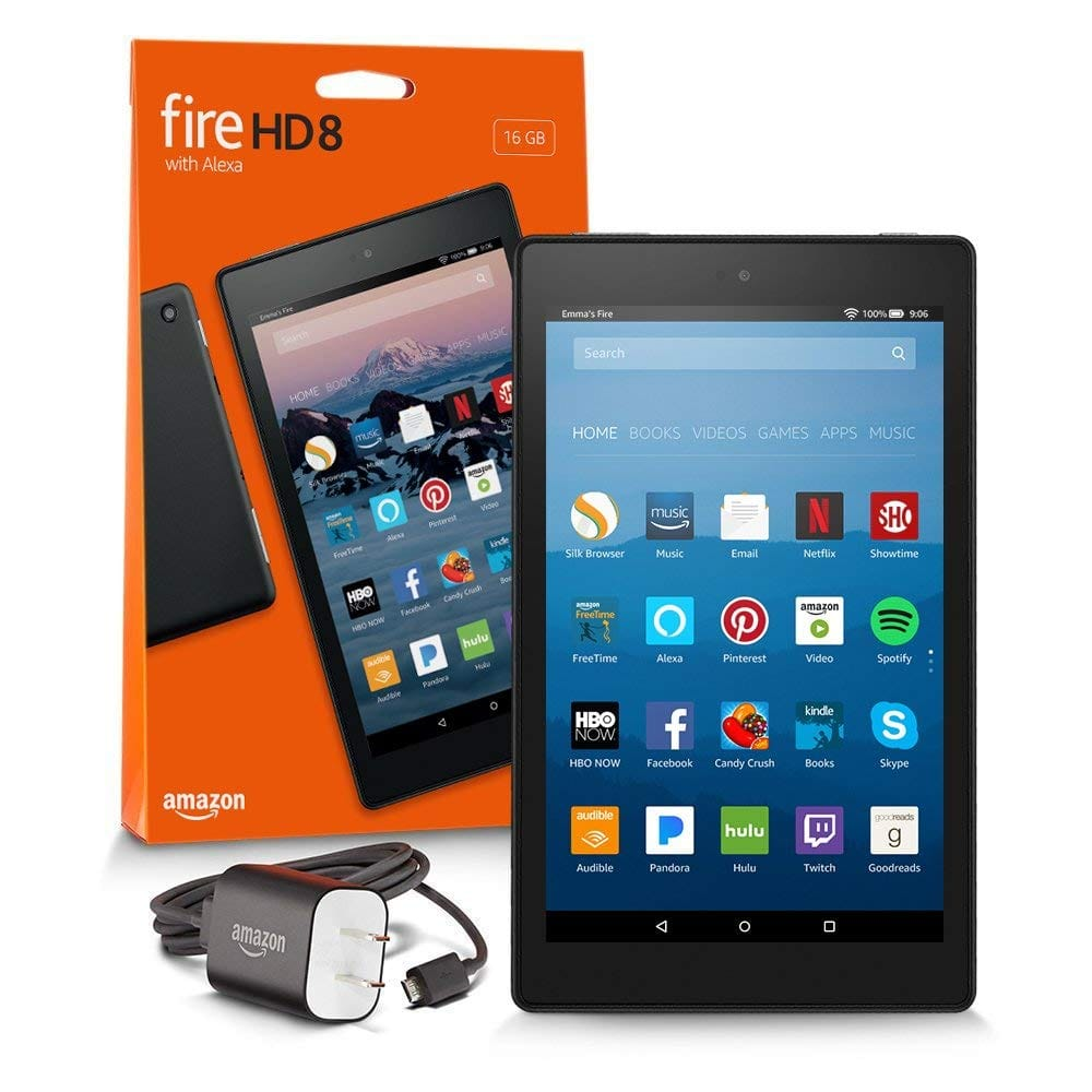 "Fire HD 8 Tablet with Alexa, 8""; HD Display, 32 GB, Black - with Special Offers [With Special Offers, 32 GB] $58.96"