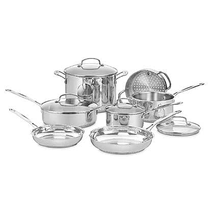 Cuisinart 77-11G Stainless Steel Cookware Set + $50 SYW Points- $160