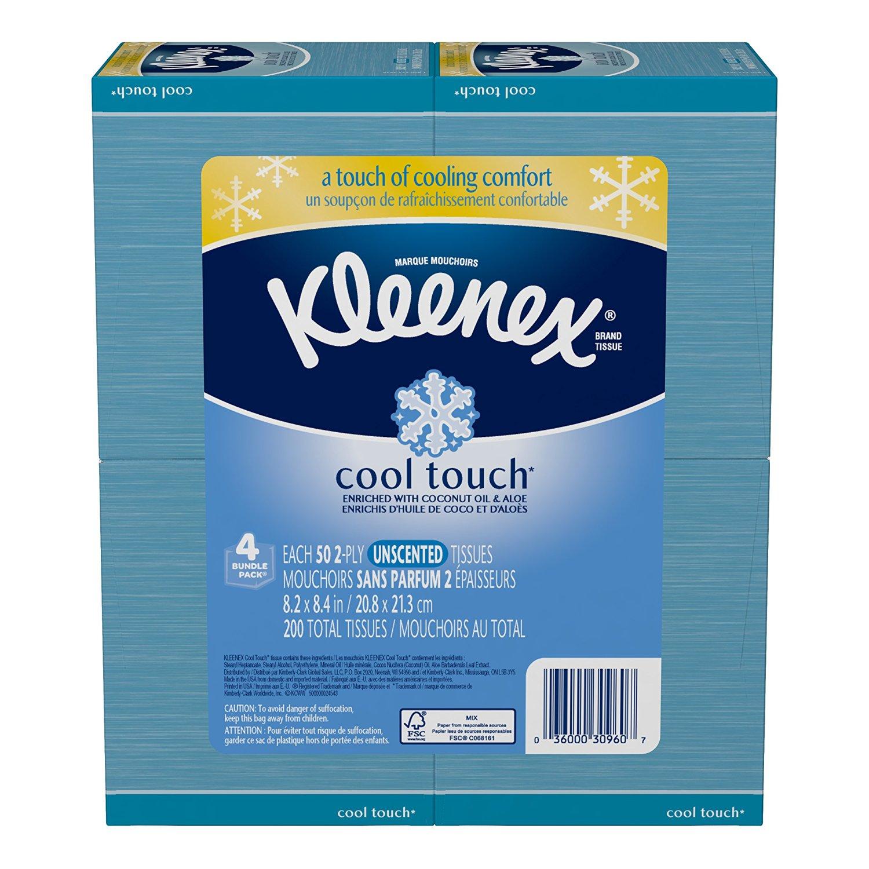 Kleenex cool touch tissue 4 pack amazon.com $1.85 plus prime pantry