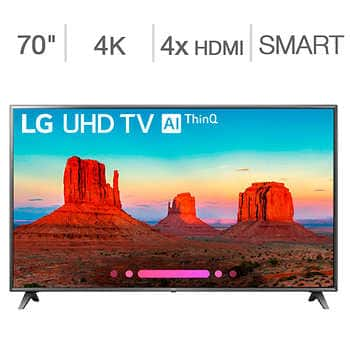 "LG 70"" Class (69.5"" Diag.) 4K Ultra HD LED LCD TV + 3 yr Square Trade Warranty $799.97"
