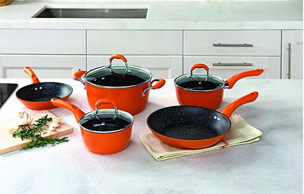 Allrecipes Sizzle Sensor Cookware Set, Nonstick, 8 Piece $108.73 + fs