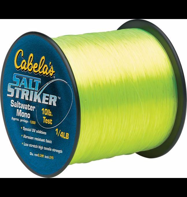 Cabelas- Salt Striker Monofilament Line $3.88-reg. $9.99- 1/4 pound spools (pink color only) various lb. test (up to 50#)
