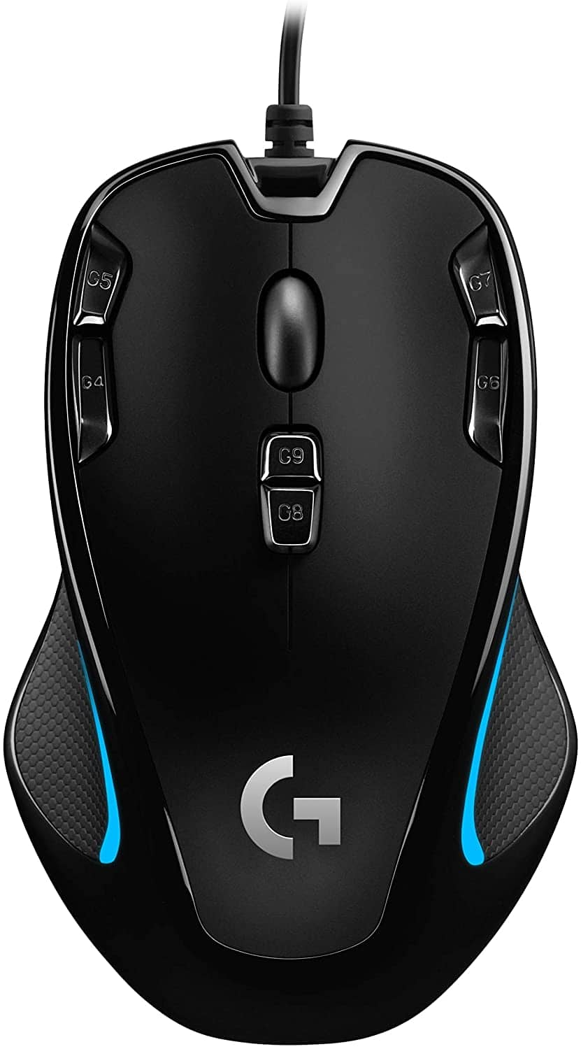 Logitech G300s Optical Ambidextrous Gaming Mouse – 9 Programmable Buttons, Onboard Memory $20.99
