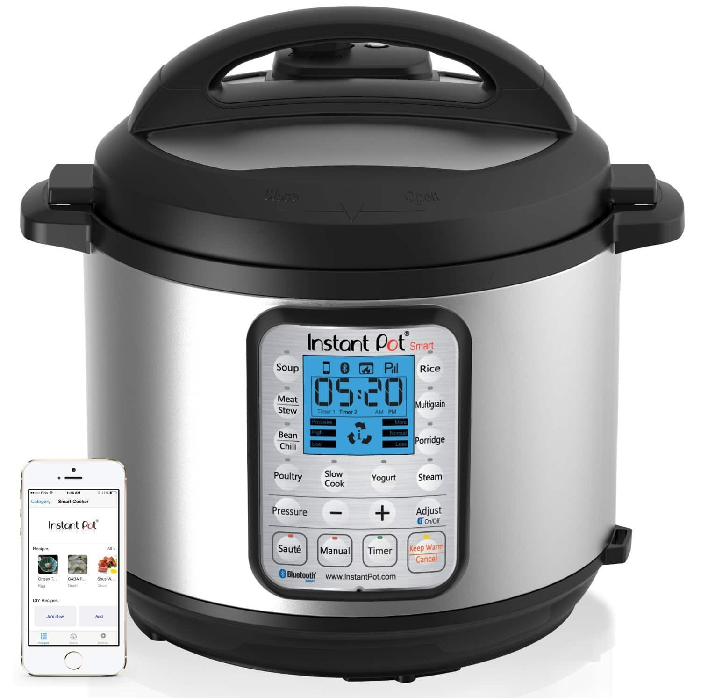 Instant Pot Smart Bluetooth 6 Qt 7-in-1 $127.99