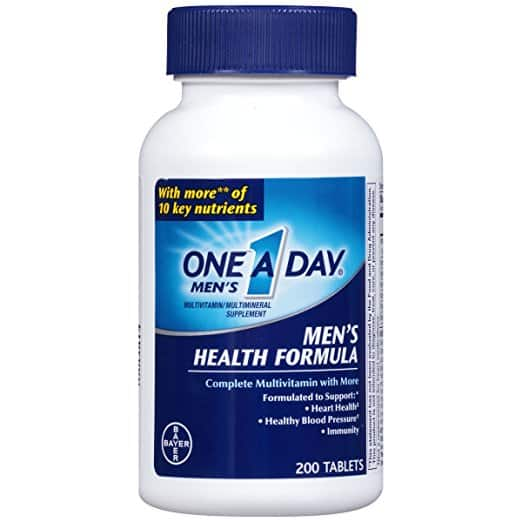 One A Day Multivitamin, Men's Health Formula , 200 Tablet Bottle as low as $4.99 after $ coupon and 15% S&S discount
