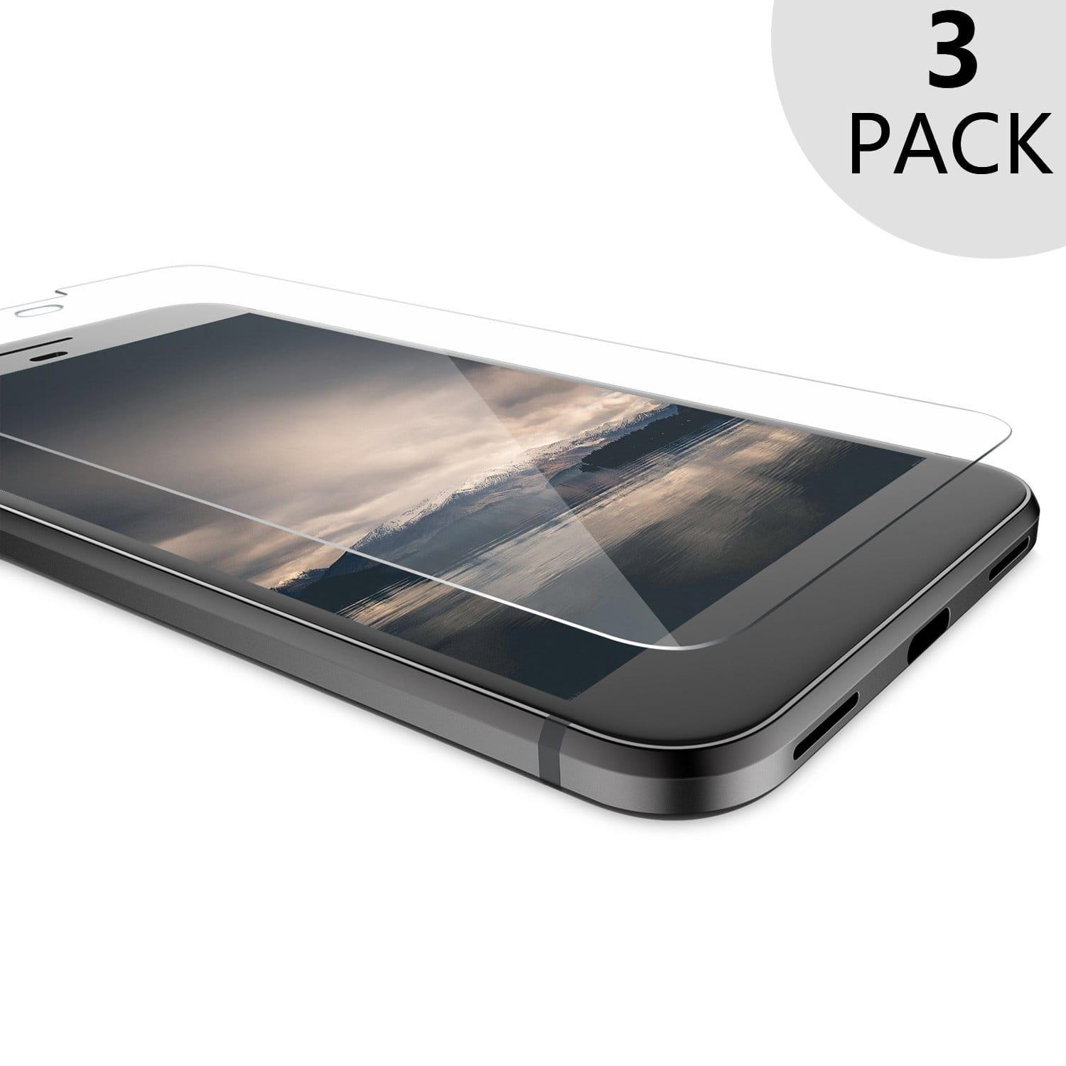 [3 Pack] Google Pixel XL / Google Pixel Tempered Glass Screen Protector- $2.99 fs w/prime