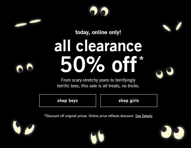 Today Only! 50% Off All Abercrombie Kids Clearance