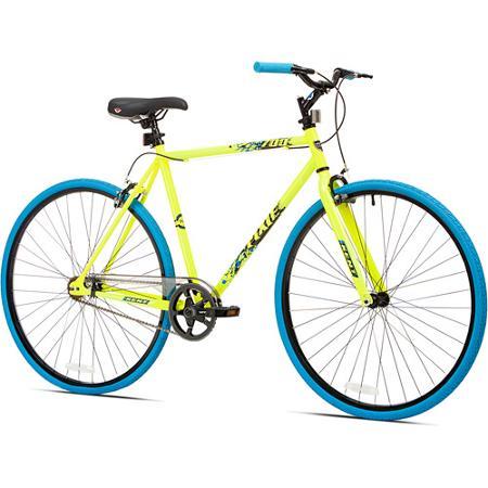 700c Kent Thruster Men's Fixie Bike, Yellow/Blue $25 @ Walmart B&M YMMV