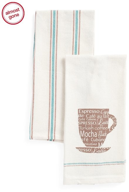 JABARA Espresso Kitchen Towels $4.99 + fs $4.98
