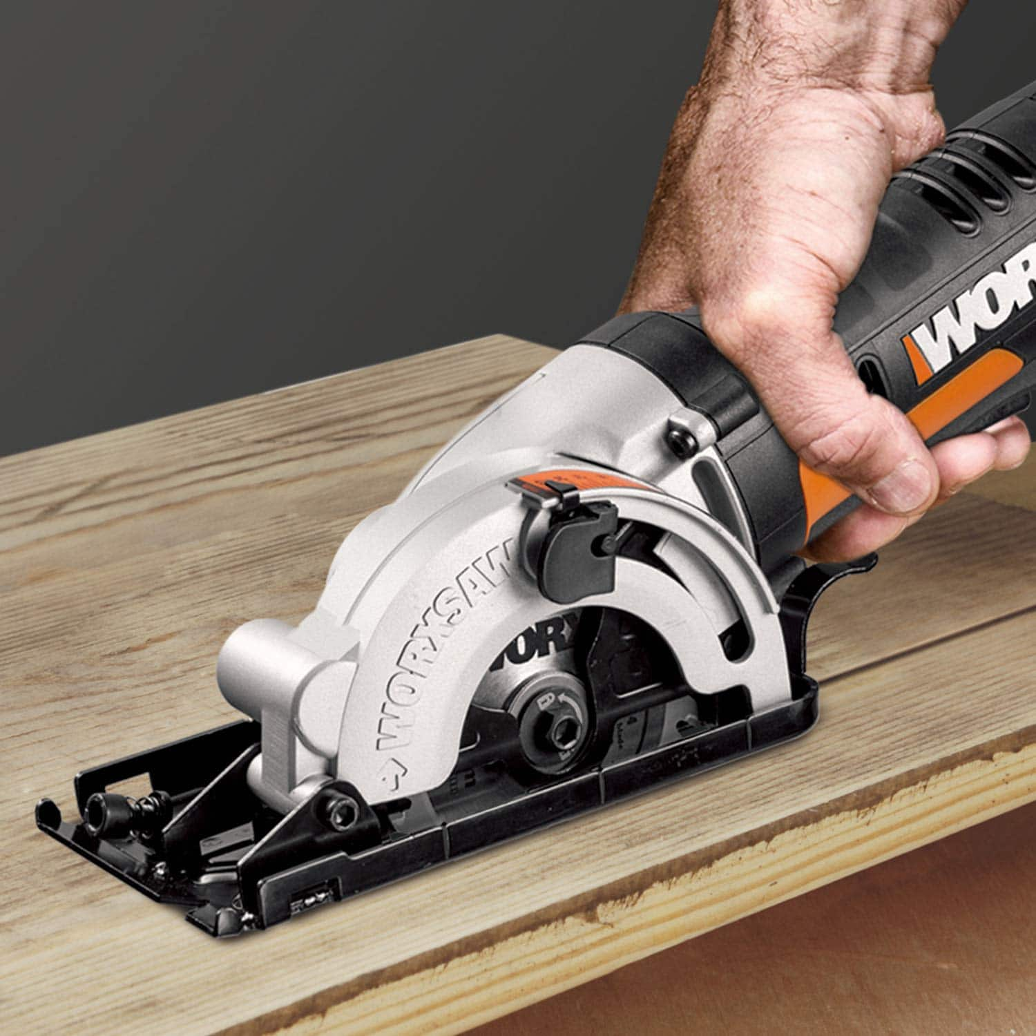 "WORX WX523L 3 3/8"" Cordless Pluge Circular Saw including battery and charger $61.79"