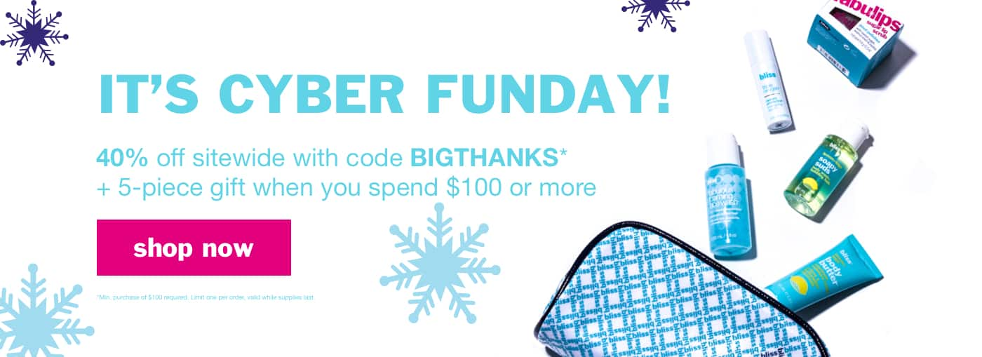 Bliss Products 40% off @ Bliss or BOGO $1 Bliss Products @ Kohl's