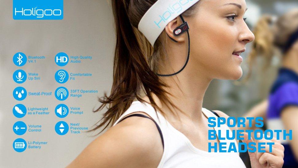 Holigoo 4.1 Bluetooth Headphones with AptX for $5.99