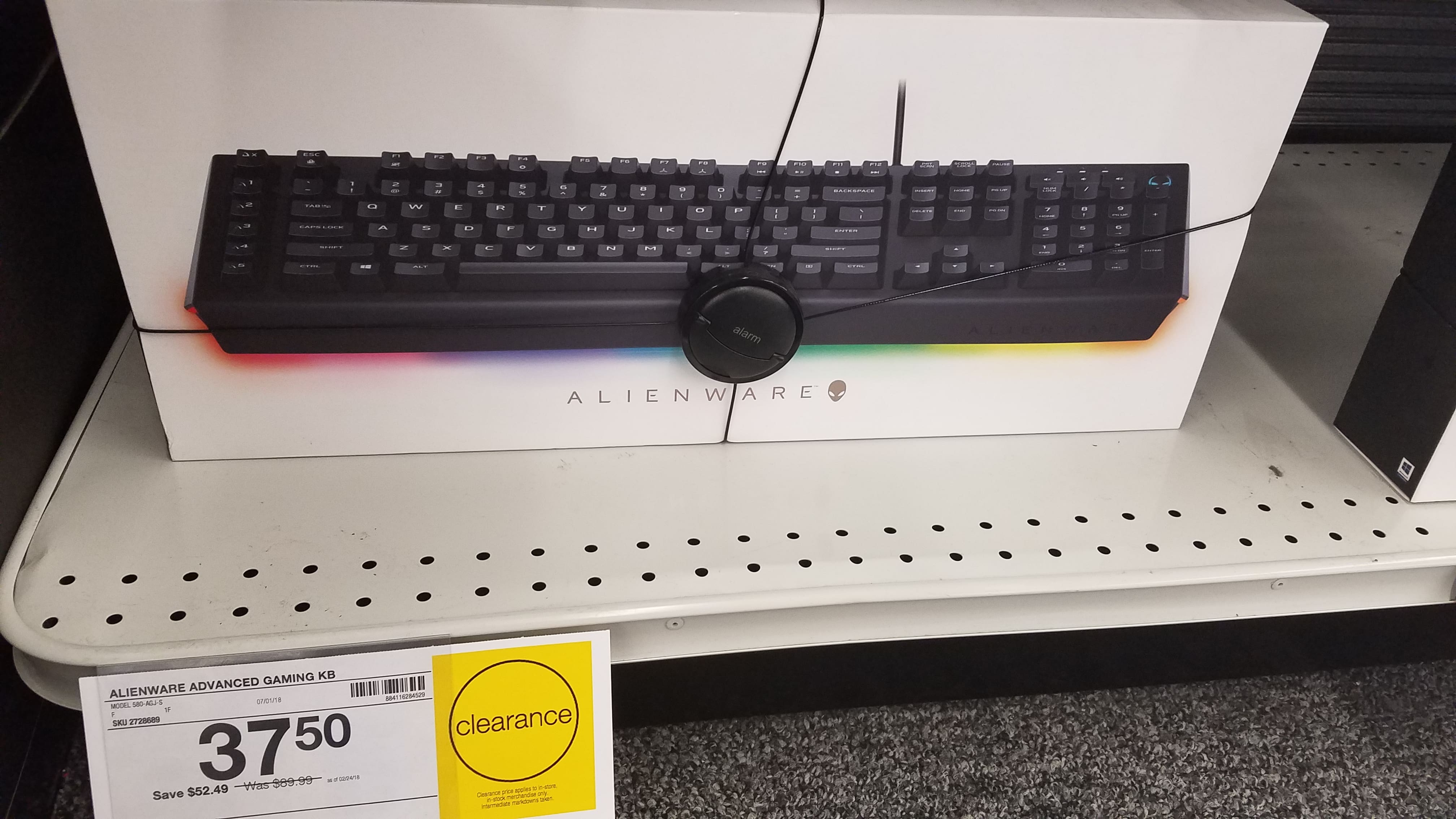 625506a0c02 Staples clearance YMMV - $37.50 Alienware Advanced Gaming AW568 USB Mechanical  Keyboard