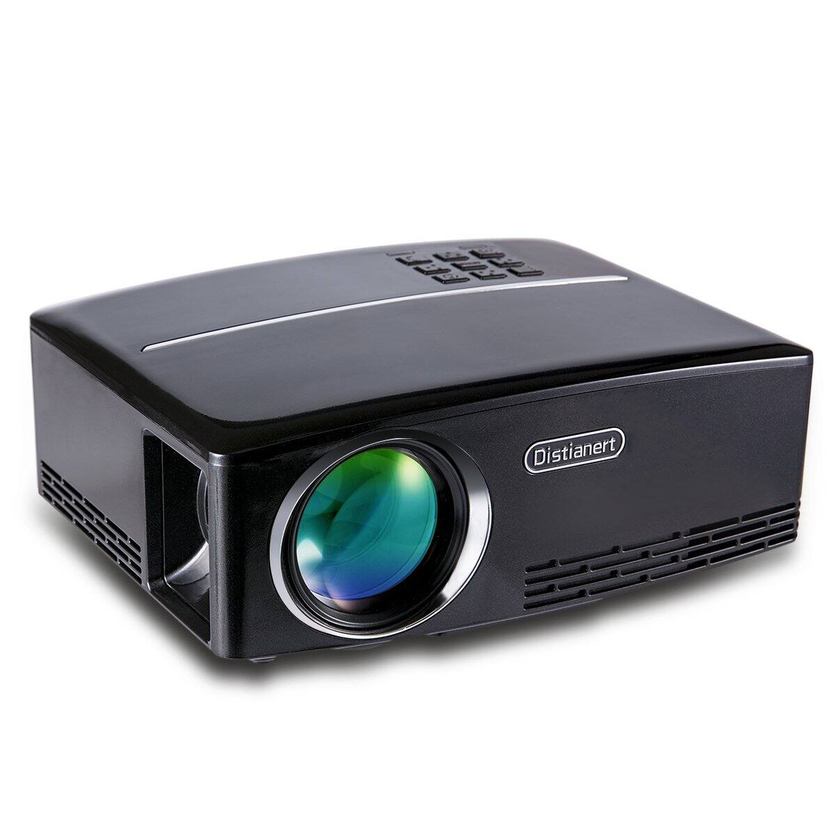 1800 lumens portable hd home theater projector at for Hd projector amazon