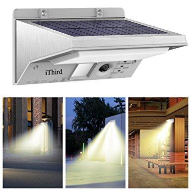 Solar Lights Outdoor Motion Sensor, iThird 21 LED 330LM Solar Powered Security Lights $20.24