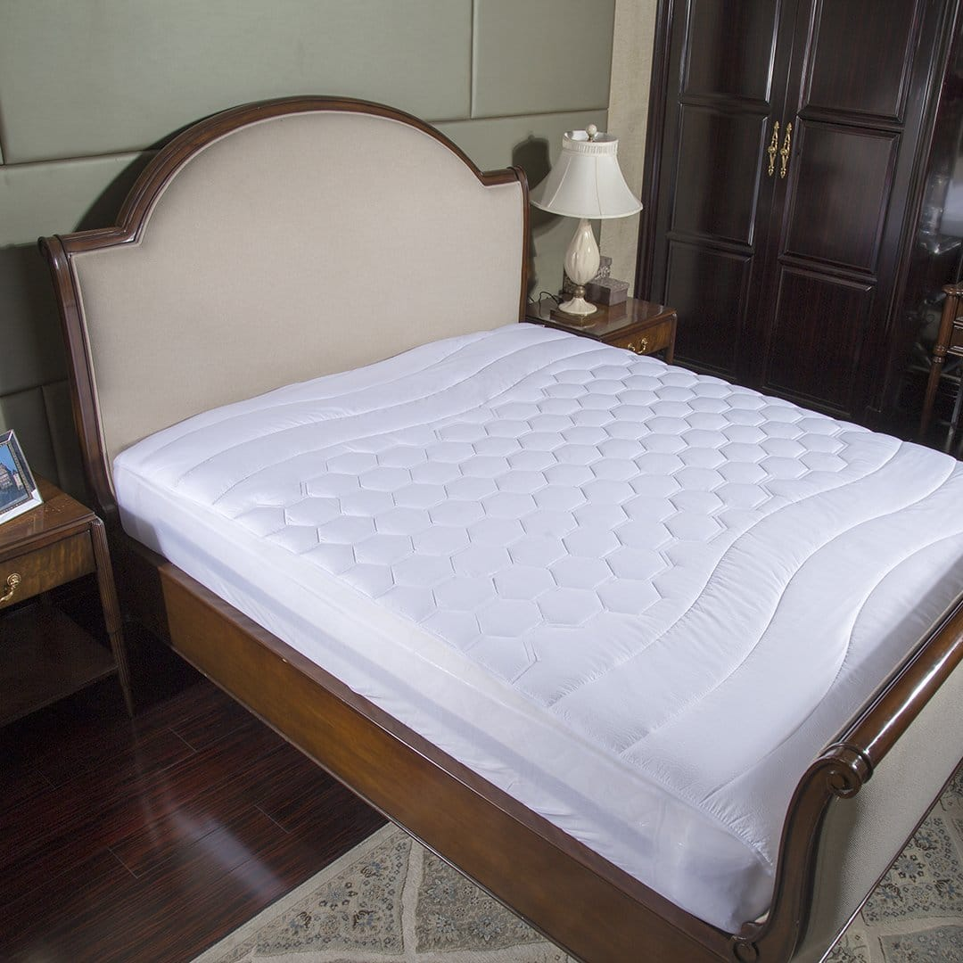 Overfilled Mattress Pads in White #1 color (Twin,Twin XL,Full,Queen, King,California King) for $16.24-$22.74 (35% off)  + Free Shipping