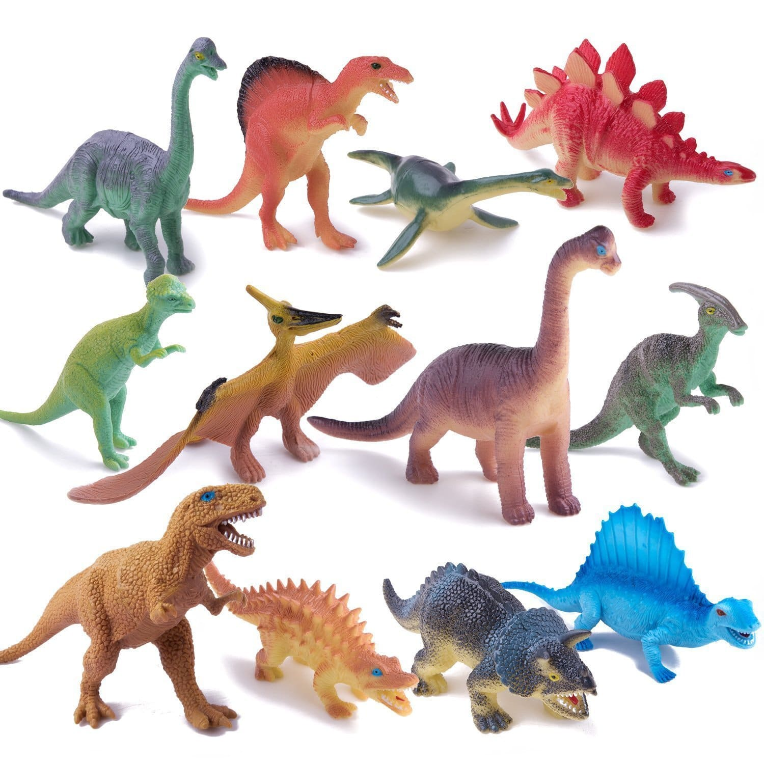 12 pieces dinosaur toys with carrying case - $11.99 (40% off)