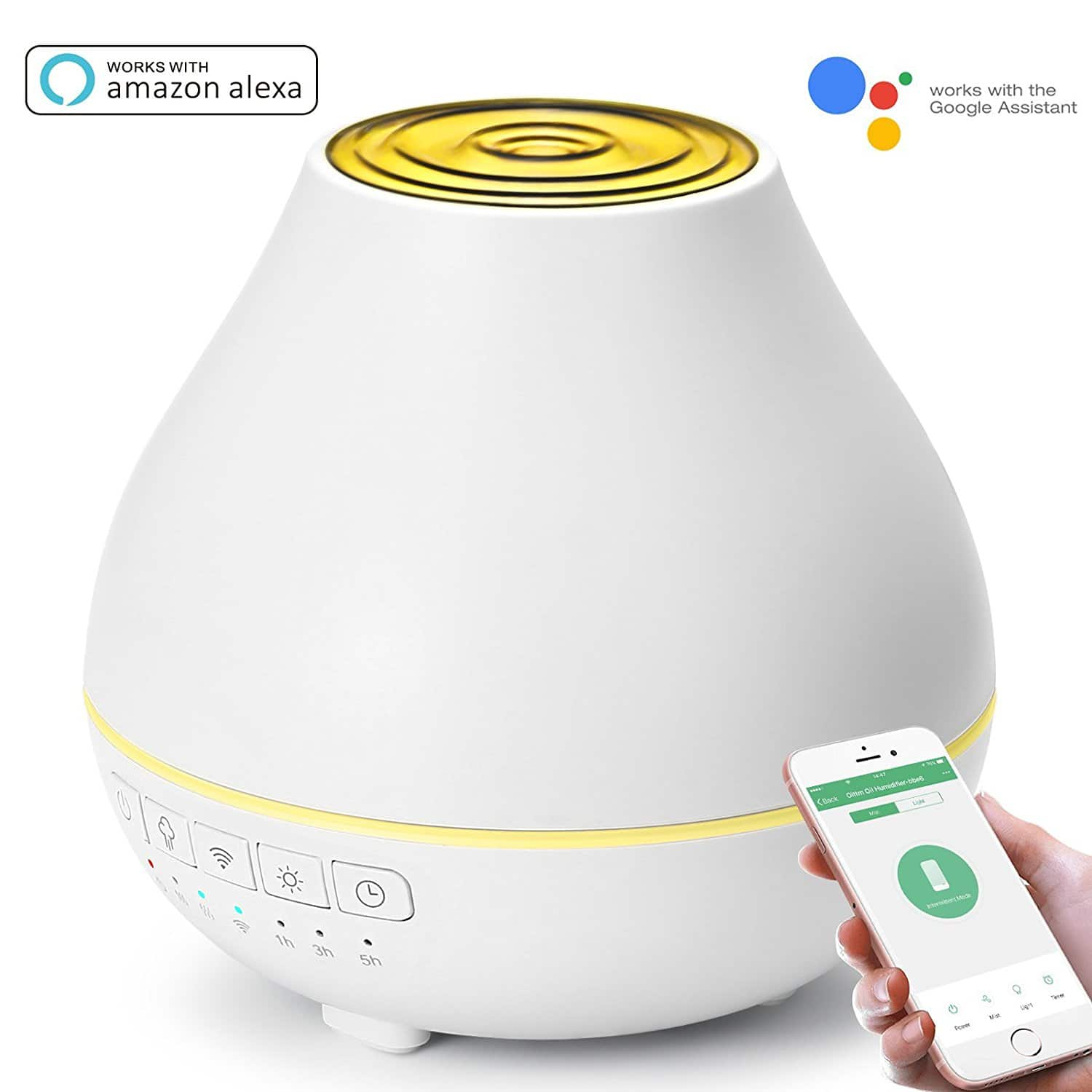 Oittm Smart Aroma Essential Oil Diffuser Wifi Humidifier, Works with Alexa, Google Assistant and Phones App $35.71 + FS