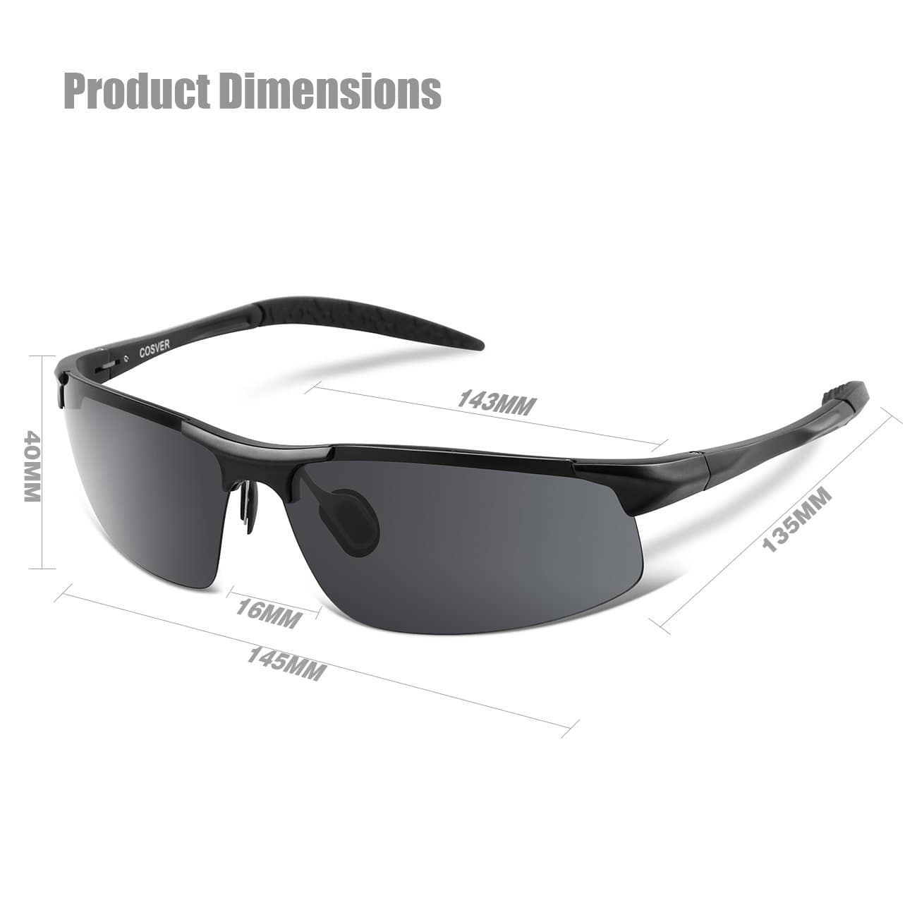 d78df94123 COSVER Men s Sports Style Polarized Sunglasses for Driving Cycling Running  Fishing Golf