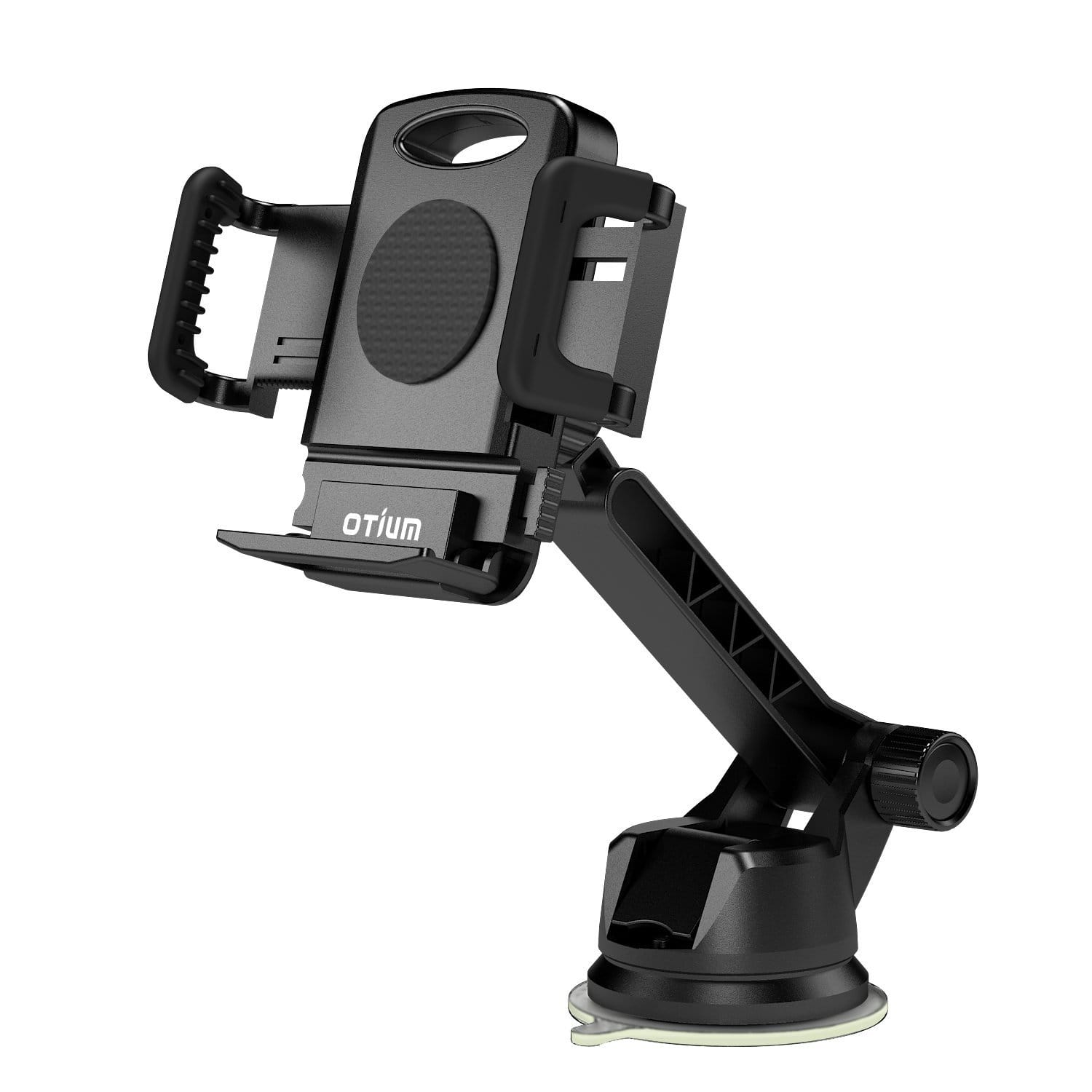 Car Phone Holder Cell Phone Mount Long Adjustable Arm with One-button $6.92