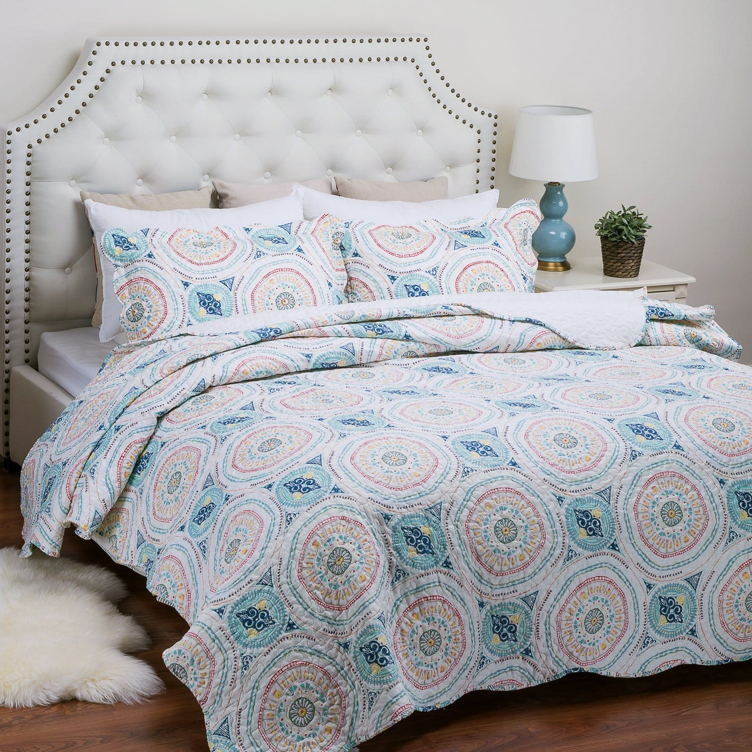 Printed Quilt Coverlet Set 35% off